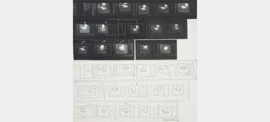 Ketty La Rocca, Il mio lavoro, 1974, provini fotografici e china su carta, cm 35x35