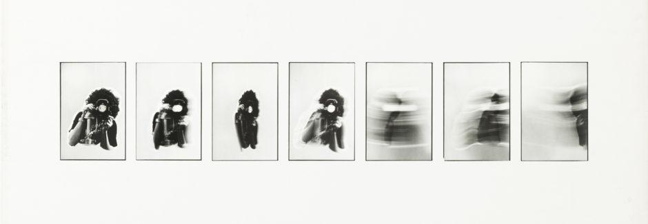 Paola Mattioli, Autoritratto '77, 1977, stampa baritata, cm 70,7x101
