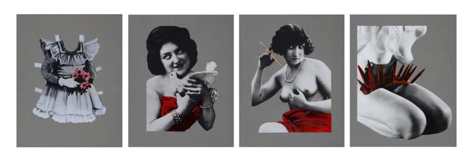 Libera Mazzoleni, Riflessione sullo stereotipo identitario femminile, 1974-1975, cm 35x28