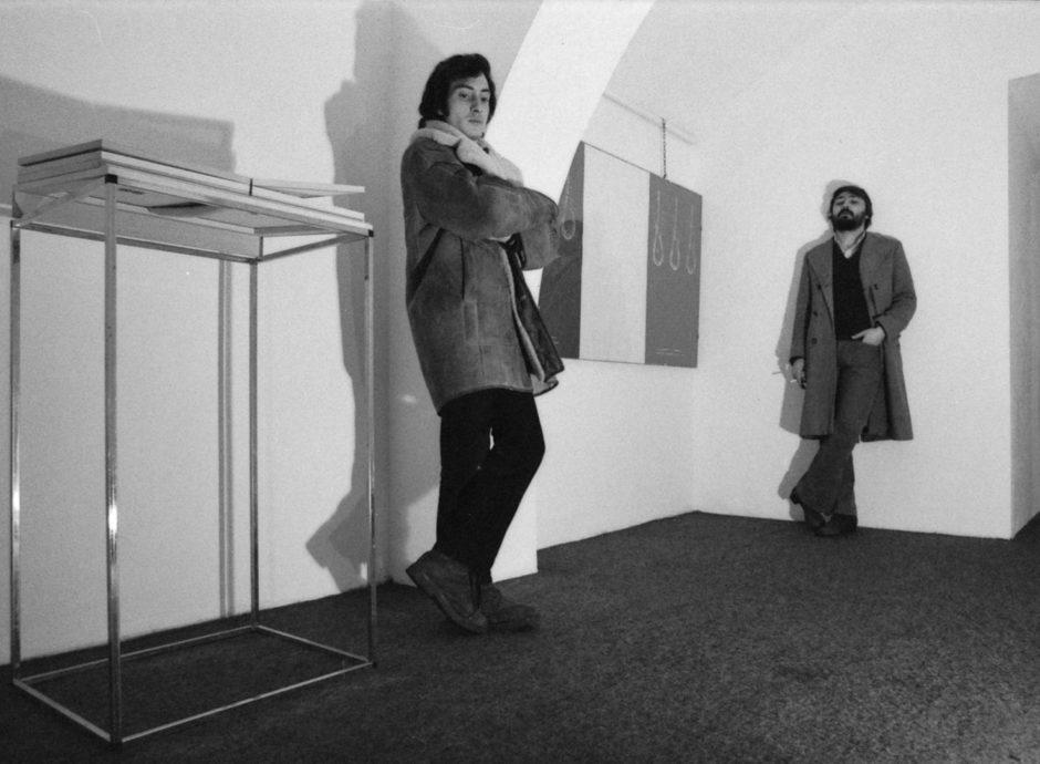 Carmelo Romeo e Luciano Trina - Germinale alla Mana Art Market (Roma, 1972).