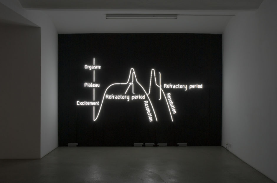 Claire Fontaine, Orgasm Neon (Male) 2009