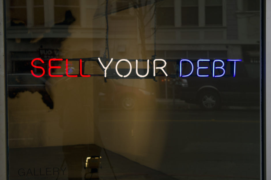 Claire Fontaine, Untitled (Sell your debt) 2012