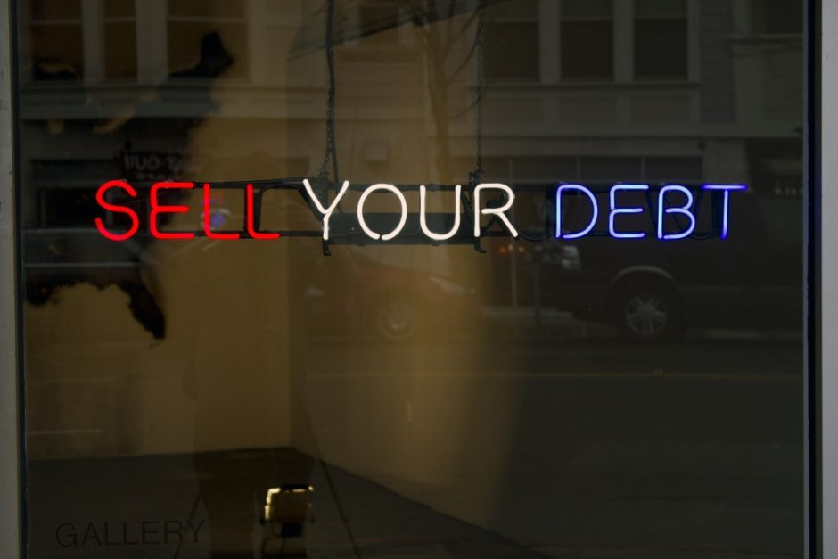 Claire Fontaine, Untitled (Sell your debt), 2012. (1000x667)