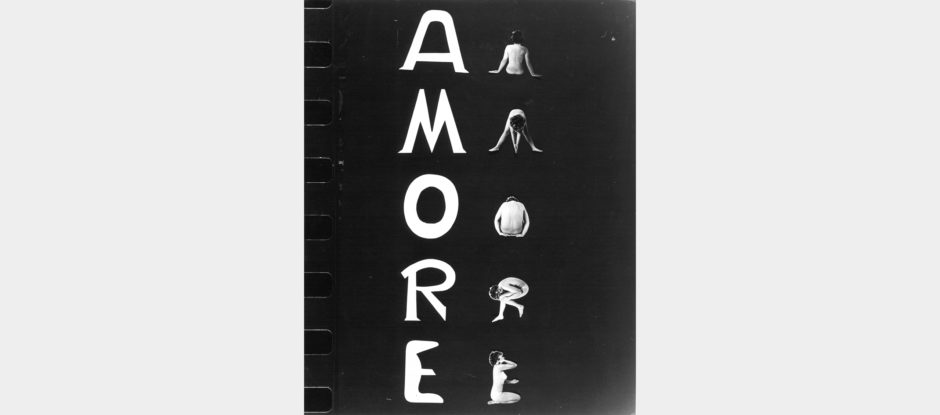 Tomaso Binga, Amore lineare, 1976, tecnica mista, cm 30x24