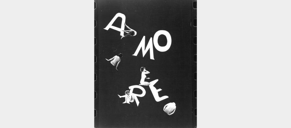Tomaso Binga, Amore II, 1976, tecnica mista, cm 30x24