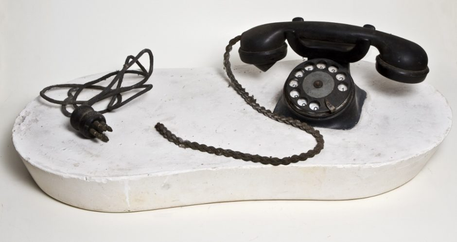 Marko Pogacnik (OHO group), Pop object (telephone), 1965, mixed media, 150 x 285 x 550 mm, Marinko Sudac Collection (1000x531)