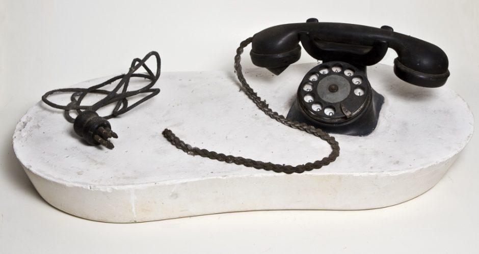 Marko Pogacnik (OHO group), Pop object (telephone), 1965, mixed media, 150 x 285 x 550 mm, Marinko Sudac Collection (1000x531)