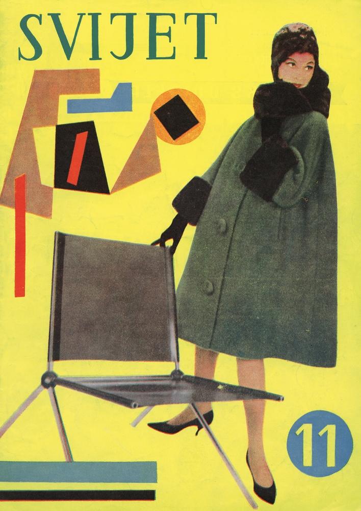 Aleksandar Srnec_ Cover Design for_Svijet_Fashion Magazine_No. 11_1960_ offset_ paper_340 x 240 mm_ Marinko Sudac Collection (708x1000)