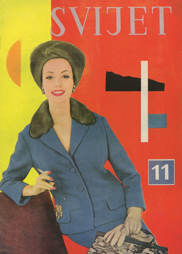 "Aleksandar Srnec_Cover Design for ""Svijet"" Fashion Magazine_No. 11_1959_offset_paper_340 x 240 mm_Marinko Sudac Collection (716x1000)"