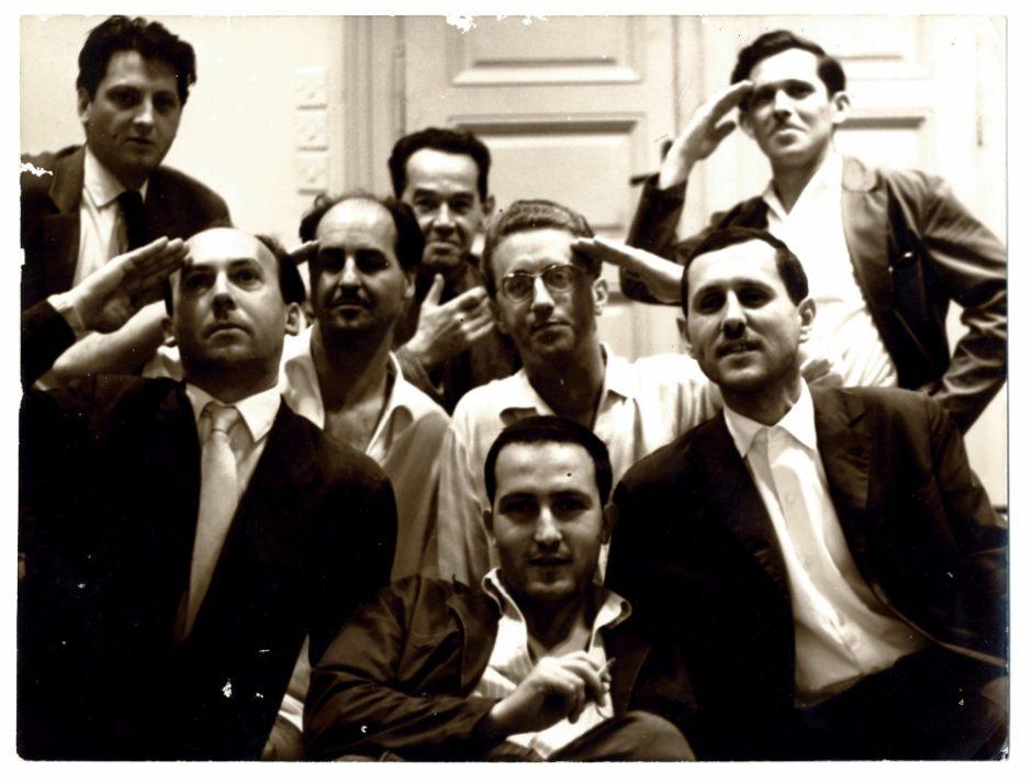 Gorgona Group, Members and Friends of Gorgona, 1961, bw photograph, photo by Branko Balic, 243 x 298 mm, Marinko Sudac Collection (1000x760)