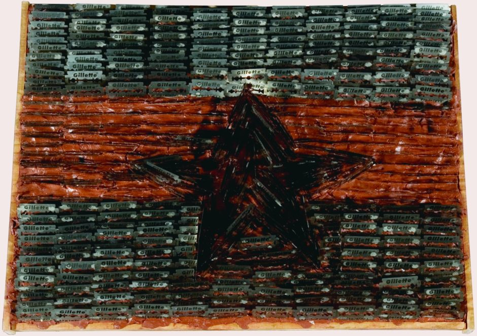 Sven Stilinoviå, Flag, 198485, mixed media, 350 x 470 mm, Marinko Sudac Collection