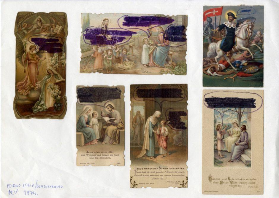 Vlado Martek (Group of Six Authors), Porn Comic (Censored), 1974, collage, 211 x 296 mm, Marinko Sudac Collection (1000x711)