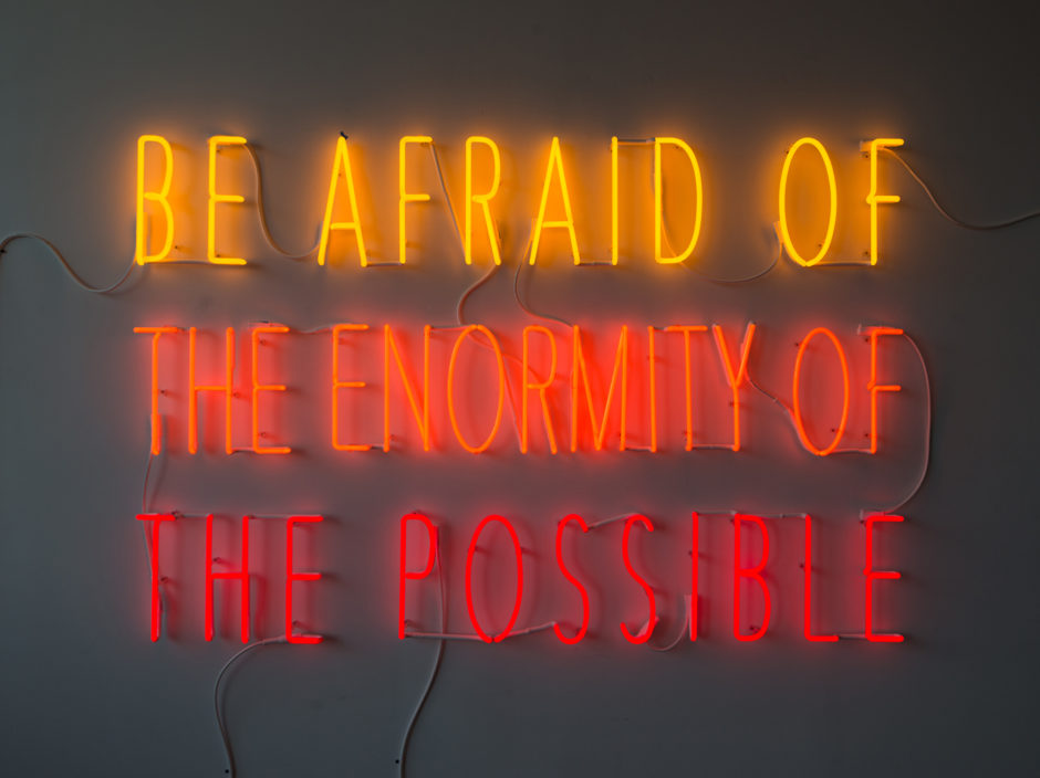 Alfredo Jaar Be Afraid of the Enormity of the Possible (2015)